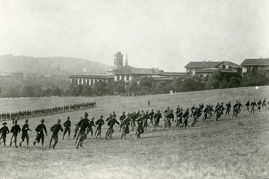 Image of campus during WWI
