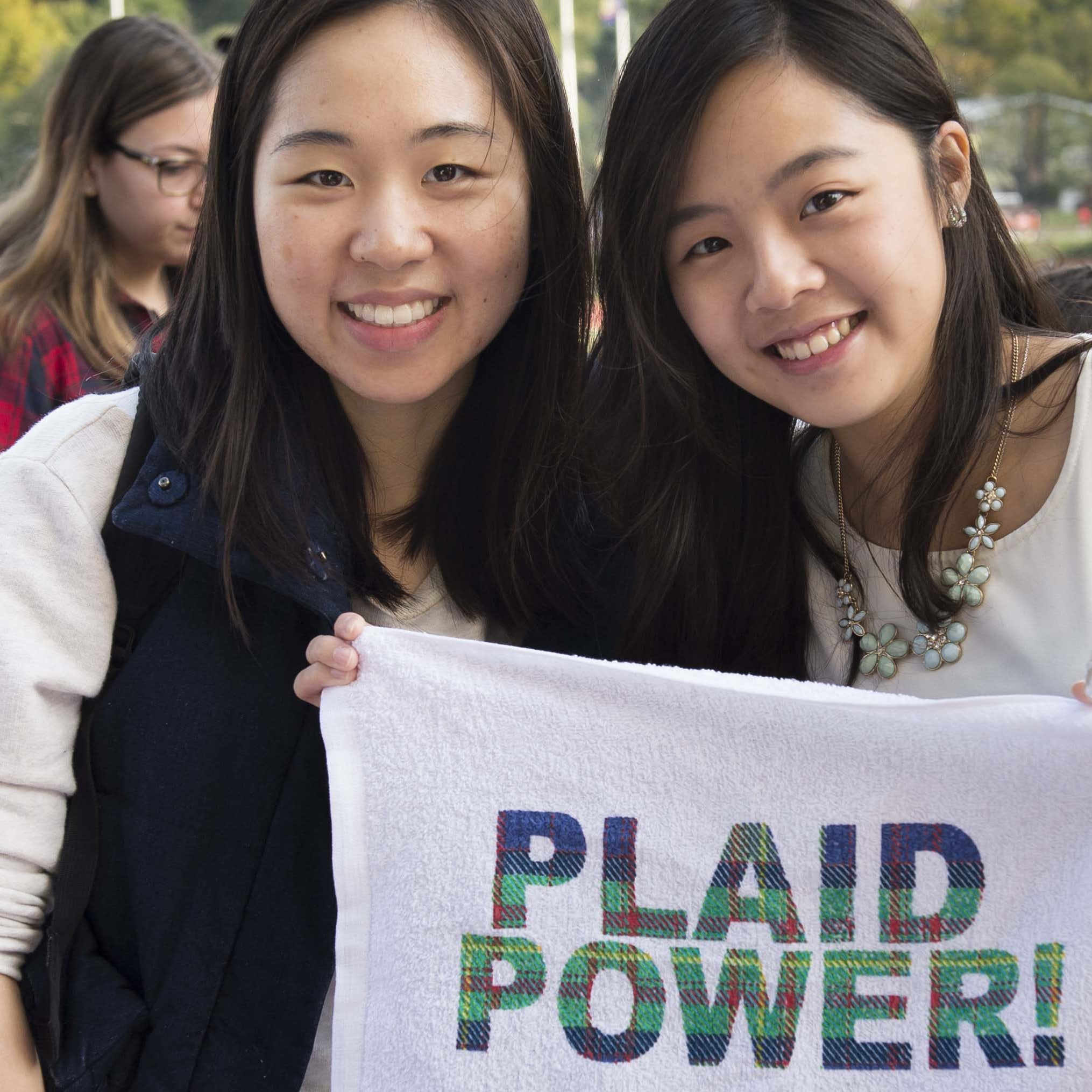 image of Plaid Power towel