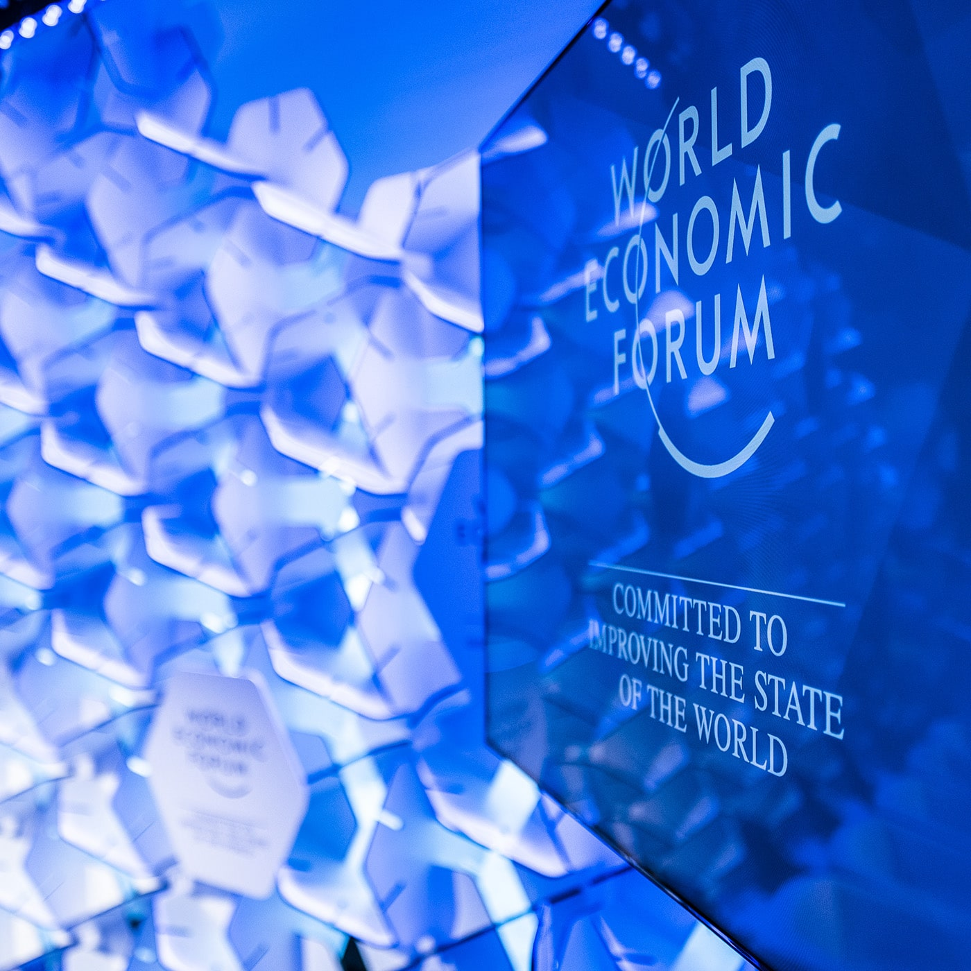 A display at the World Economic Forum
