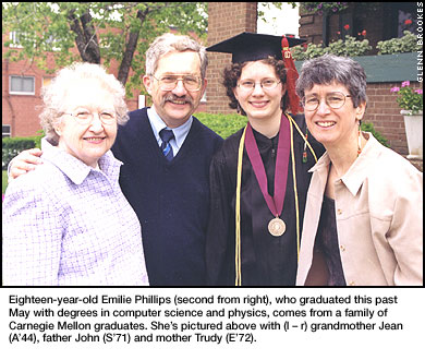 Phillips Family Spans a Century at Carnegie Mellon