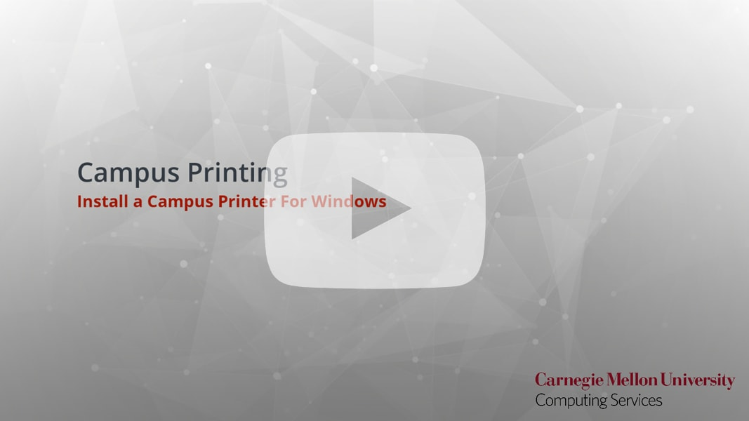 How To Print to Campus Printers - Computing Services