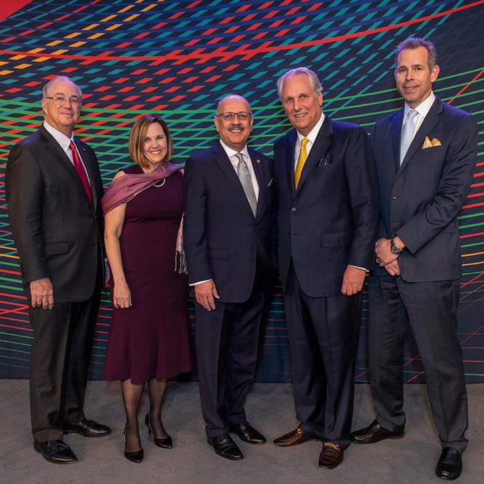 Allegheny trustees with CMU leadership