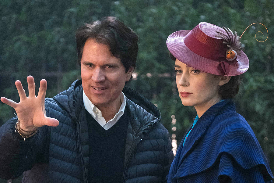Rob Marshall with Emily Blunt
