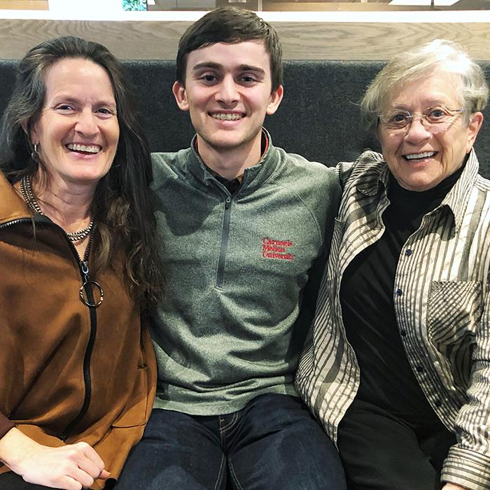 Dan's granddaughter, great-grandson, and daughter-in-law