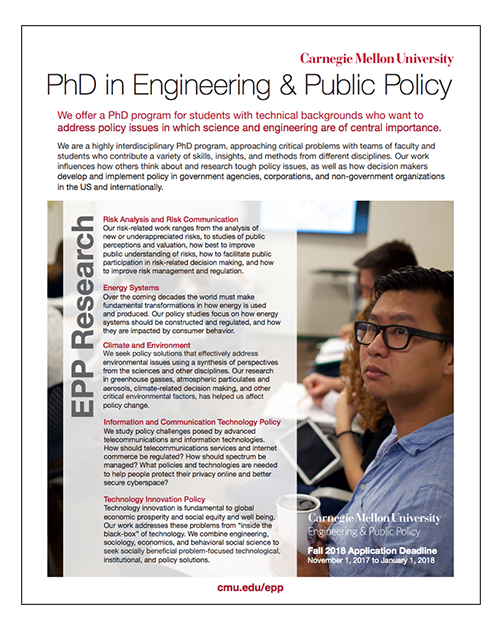 Doctoral Studies - Engineering and Public Policy - College