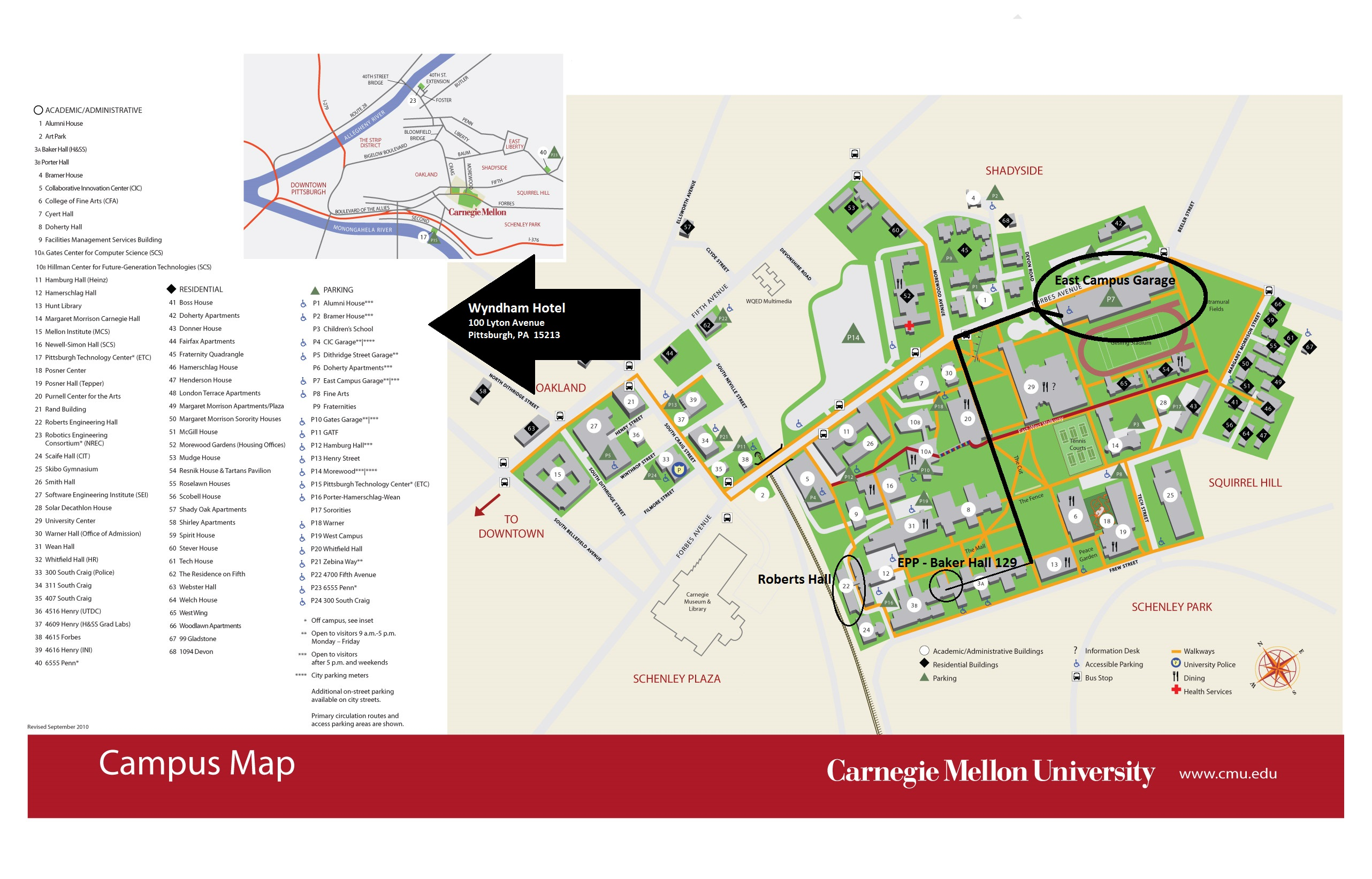 Carnegie Mellon Map Getting Here   Engineering and Public Policy   College of  Carnegie Mellon Map
