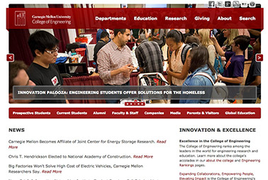 Launch the College of Engineering website