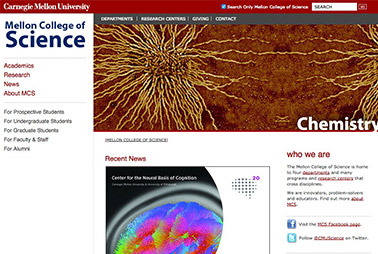Launch the Mellon College of Science website