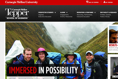 Launch the Tepper School of Business website