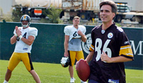 Randy Pausch at Steelers Practice