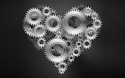 heart gears illustration