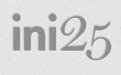 INI 25th logo