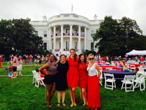 summer 2015 friedman recipients pose during a 4th of July event at the White House.