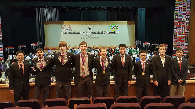 U S  Team Takes First Place at International Mathematical
