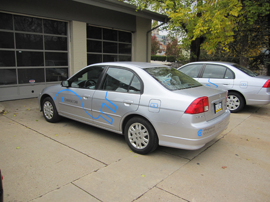 PITTSBURGHu2014Researchers At Carnegie Mellon University Will Unveil An All  Electric 2002 Honda Civic, The Production Prototype For Their ChargeCar  Electric ...