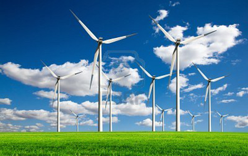 Windturbines X on wind powered homes