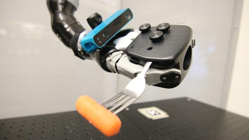 Camera-mounted robot arm