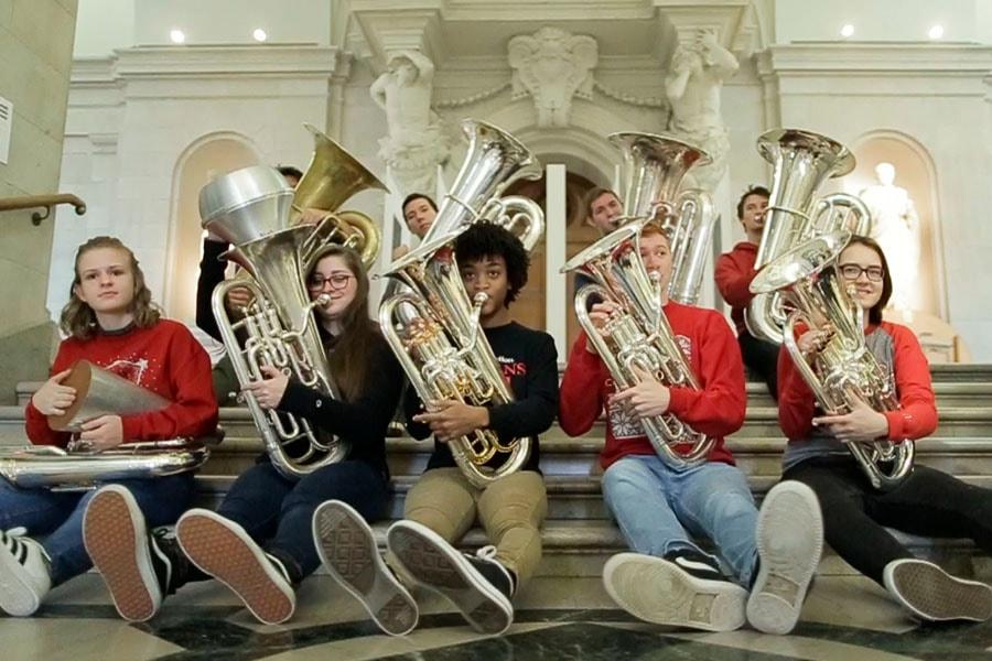 Image of tuba players