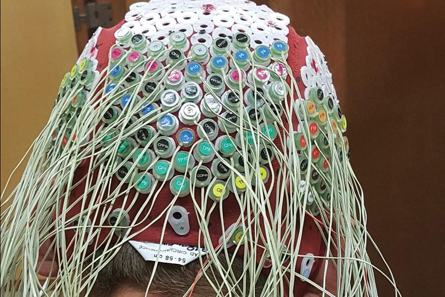Image of a custom EEG cap