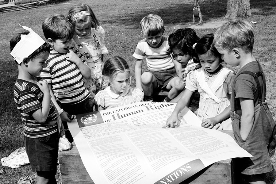 United Nations archival image of children