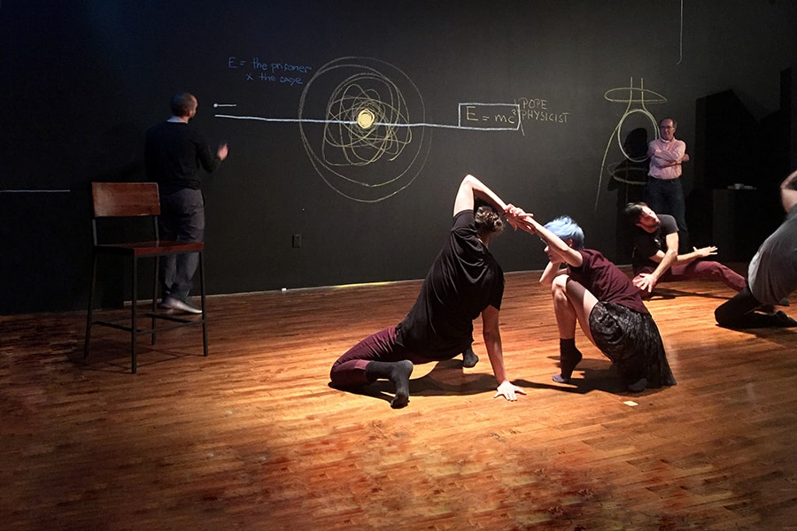Image of performers during an invisible jazz lab