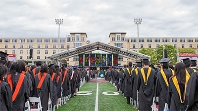 Image of Commencement stage