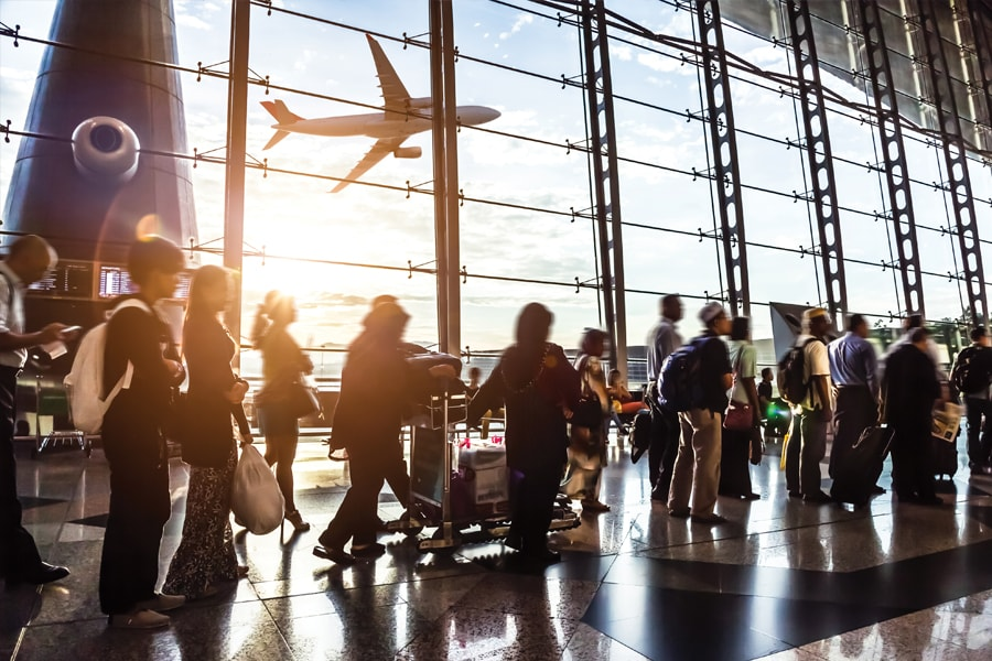 Image of a busy airport