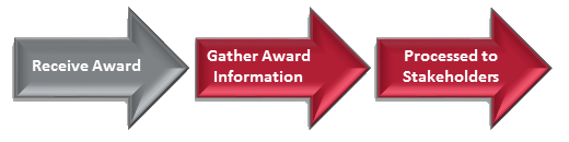 An interactive process map to learn more about each step in the award process.