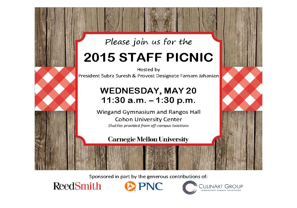 You'Re Invited: Staff Picnic Is May 20 - The Piper - Carnegie