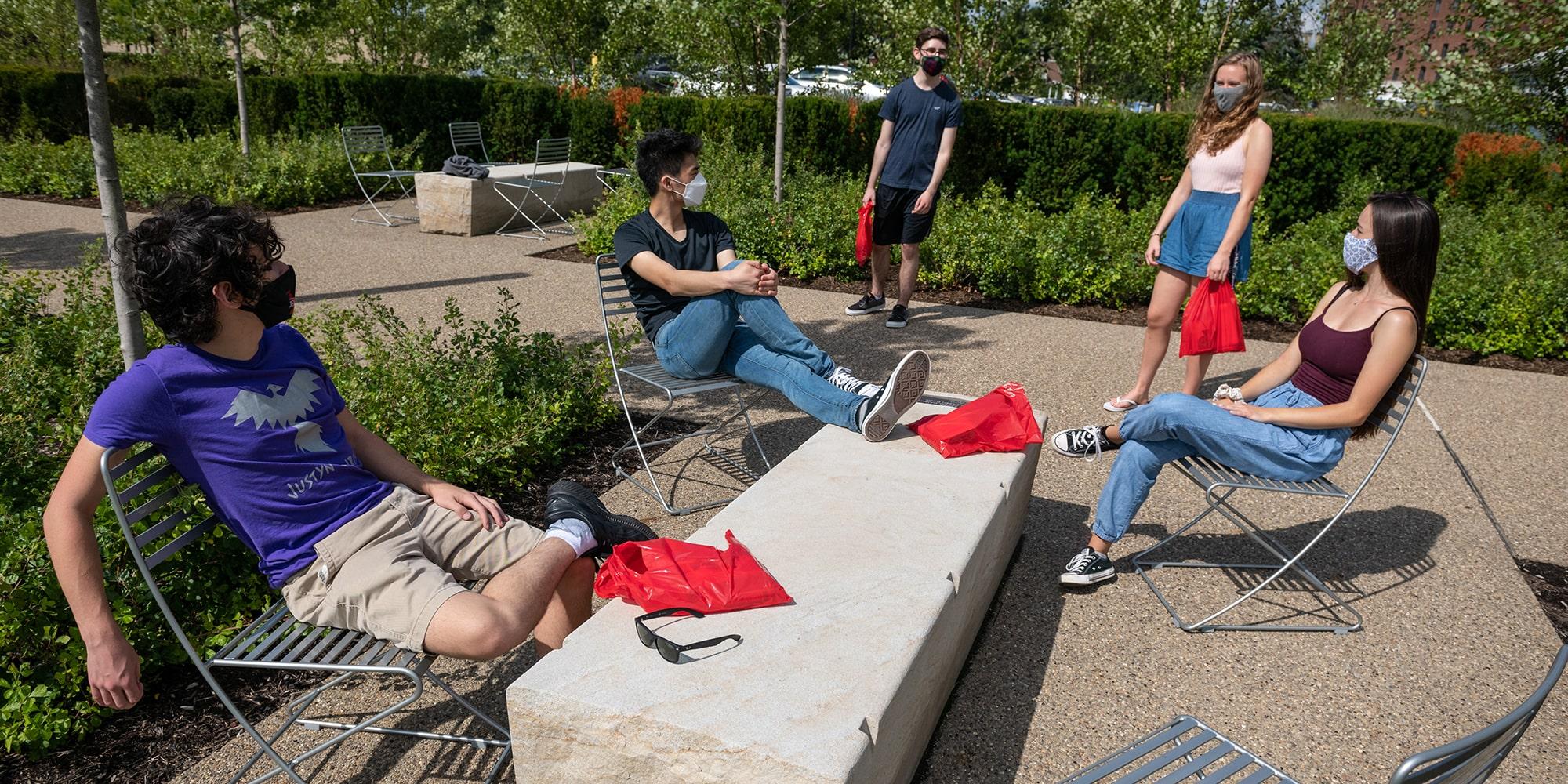 Students at Tepper Quad